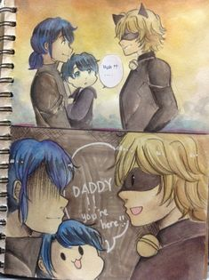 I'm gonna celebrate Adrienette April! — Child AU Part 4!!! Yess at least someone still ships it.