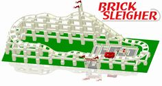 BrickCoaster's® custom track pieces assemble with LEGO® toy bricks for the construction of one of the most iconic amusement park rides; the rollercoaster. This set allows the construction of BrickCoas