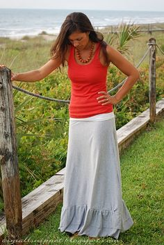 from Sheet to Maxi Skirt (tute here: http://elleapparel.blogspot.com/2012/03/maxi-skirt-dress-it-down.html) - play around with ruffles