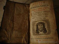 DIFICILISIMO LIBRO ORIGINAL PRIMERA DECADA S.VXIII, 1710 OFICIO DE LA SANTA MISA, CIERRES EN BRONCE