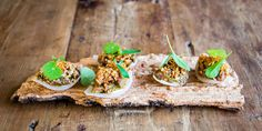 Beef tartare with sour onions and oyster emulsion recipe
