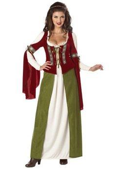 CL158 Elegant Empress Medieval Maid Marion Renaissance Fancy Dress Up Costume