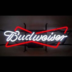 Budweiser neon signs make fun, easy-to-use bar decorations.