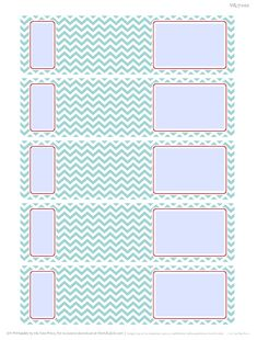Envelope Wrap Address Labels with a Chevron pattern. Free Download.