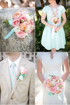 Summer Wedding in Coral and Aqua | A Paper Proposal - Inspired Weddings | Bloglovin'