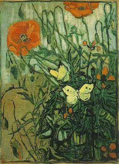 Vincent van Gogh: Poppies and Butterflies. Oil on canvas. Saint-Remy: April-May, 1890. Amsterdam: Van Gogh Museum.