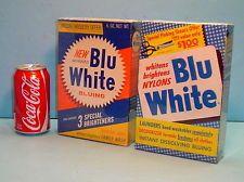 TWO BOXES VINTAGE PUREX ''BLU WHITE'' LAUNDRY DETERGENT BOXES
