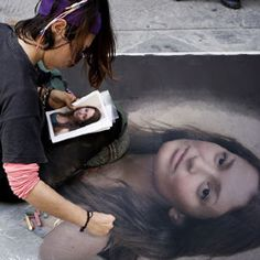 Draw picture on a sidewalk with this free photo effect. PhotoFunia can help spice up any  photo and will give you hours of fun.