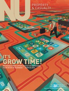 A cover for the current issue of National Underwriter magazine about growing business in uncertain times. Making the right digital investments is key. Thanks again to Tim Schafer.