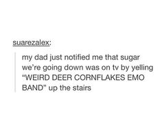 Weird deer cornflake emo band
