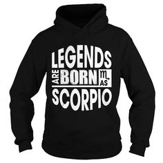 Cool Legends are born as Scorpio Shirts & Tees