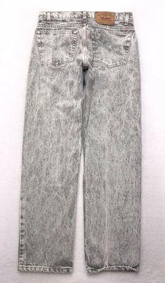 F150 VTG USA MADE Levis 505-0216 Straight Gray Acid Wash Jeans sz 33x32 (30x31) | eBay Levis 505, Acid Wash Jeans, Two By Two, Gray, Denim, Clothes, Fashion, Outfits, Moda