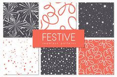 Festive Seamless Patterns Set by Curly_Pat on Creative Market
