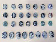 Agate cameos unmounted