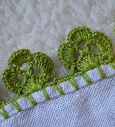 Crochet Edging Patterns, Crochet Lace Edging, Crochet Leaves, Crochet Borders, Baby Knitting Patterns, Crochet Designs, Crochet Flowers, Crochet Romper, Knit Or Crochet