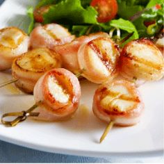 Bacon and Maple Sweet Sea Scallops -- Enjoy the taste of pure maple syrup, fresh from mother nature. maplegrove.com #appetizers #scallops #recipe