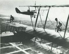 Barnstormers: Pilots+Perform+Grand+Aerial+Stunts+In+the+1920s+9