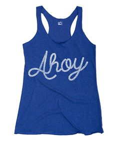 This Royal Blue 'Ahoy' Tank by Board Life is perfect! #zulilyfinds