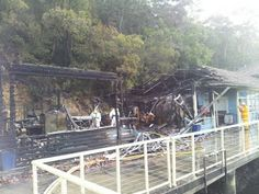 Bobbin Head, fire at the Marina in July 2012 saw part of the heritage Halvorsen building destroyed.
