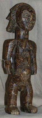 maternité luba shankadi coiffure en cascade RDC afrique statue art premier