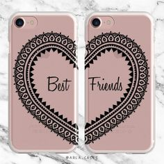 Best Friend Phone Case Set, Besties Gift, iPhone 7 Case, iPhone 6s Plus Case, Samsung Galaxy Best Friends Cases, S7, S6 Edge, iPhone SE, 5C by ArlaLaserWorks #iphone7case, #iphone7pluscase