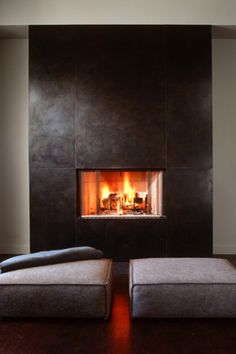 ♂ Masculine interior contemporary fireplace