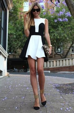 Gold Ankle | High Heels | Style Guide | Black & White | Spring Trend
