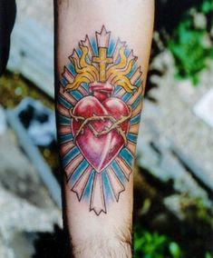 Fascinating Sacred Heart Tattoo