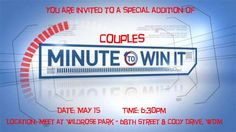 couples minute to win it games- such a fun date night idea! Or birthday party games? This was so fun.hardly any planning involved and we laughed so hard as we tried to complete the games! Couples Game Night, Night Couple, Group Dates, Marriage Retreats, Minute To Win It Games, Relay For Life, Birthday Party Games, Birthday Ideas, Dating Divas