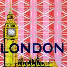 """Take Me Away - London"" custom canvas art by Shelly Kennedy for GreenBox Art + Culture $69"
