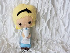 Custom Made Alice in Wonderland Felt Doll by StitchesByRachelle, $15.00