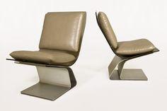 Pair of Maison Jansen Slipper Chairs, circa 1970, France | Serge Castella