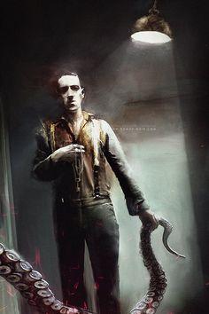 scifi-fantasy-horror:  THE KEY / Portrait of H.P.Lovecraft...