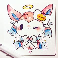 angelic sylveon!  adopted by @fromkino ^u^