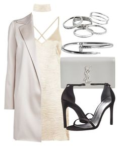 """Style #11705"" by vany-alvarado ❤ liked on Polyvore featuring The Row, Yves Saint Laurent, Stuart Weitzman and Kendra Scott"