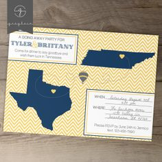 Going Away Party Invitations / Invites / Moving by greylein,
