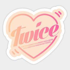 Twice Heart (english version) - Twice Kpop - Sticker Kpop Stickers, Printable Stickers, Cute Stickers, Logo Twice, V Wings, Overlays, Bullet Journal Notes, Polaroid, Kawaii Wallpaper