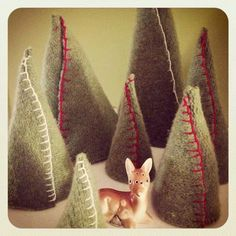 Sweater trees. Another use for my swester hoard.