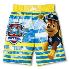 Nickelodeon Paw Patrol Boys Swim Trunks Sz 4T New with Tags!! Awesome!! HTF #Nickelodeon #Sold in My Store!!