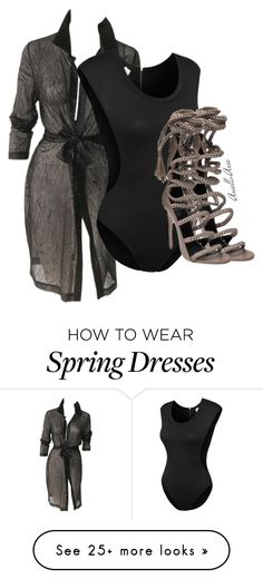 """Untitled #0203"" by ariellapaniagua on Polyvore featuring Versace, LE3NO and Monika Chiang"