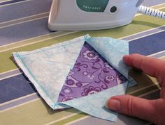 Different way to create square in a square patchwork quilt block - great tutorial