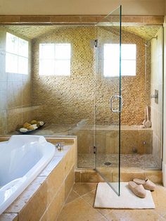 Incredible shower… it's the size of an entire small room (via Fabulous Bathroom Before and Afters | The Design Tree by Greentea Design)