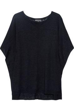 Vince Oversized fine-knit linen top NET-A-PORTER.COM