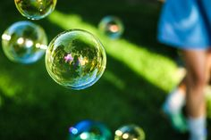 Eco-Friendly Bubble Making Recipe -make your own summertime bubble recipe and wands.
