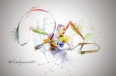Inspired by Margarita Mamun RUS Gymnastics Posters, Rhythmic Gymnastics, Illustrations And Posters, Margarita, Yogurt, Dancing, Art Drawings, Art Gallery, Fine Art