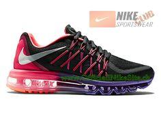 new product a7dfd d9d91 Nike Air Max 2015 GS Chaussures de Running Pour Femme Noir Violet 698903-006
