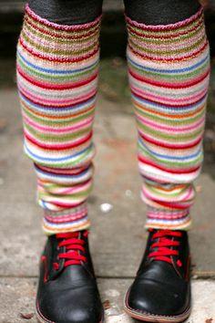 Free Knitting Patterns - Leg Warmers  Love these!