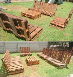 Give your home or lounge a rustic look by taking this rustic wooden pallet bench. It's enough to decorate your interior with furniture such as objects. Don't waste your precious time and pallets in the worst ideas. Click on this idea and enjoy.