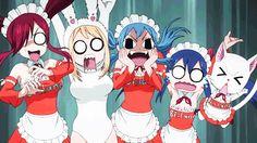 Fairy Tail <<Erza seems terrified.. I'm guessing it's Ichiya? >~<
