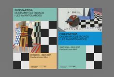 Visual identity and print by Hey for the exhibition Endgame: Duchamp, Chess, and the Avant-Garde at Fundació Joan Miró